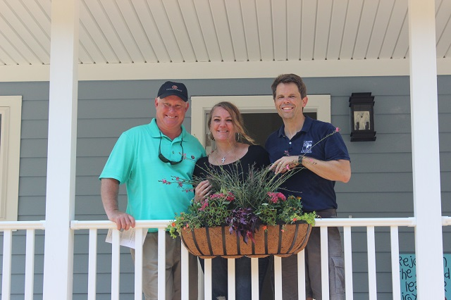 Richard and Steve with homeowner, Judy