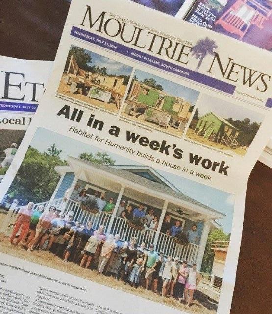moultrie news, habitat, east cooper habitat, jacksonbuilt custom homes, jacksonbuilt, builder blitz