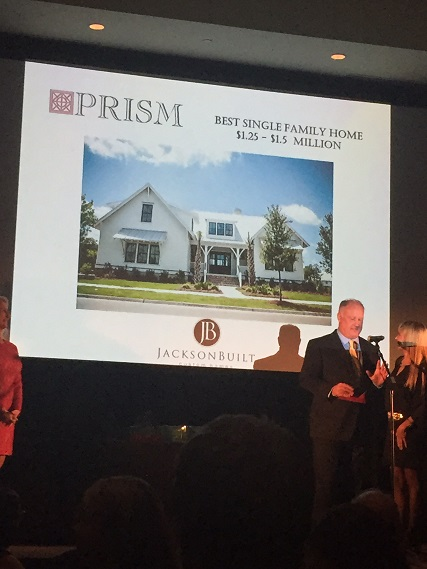 jacksonbuilt custom homes, prism award, charleston, daniel island